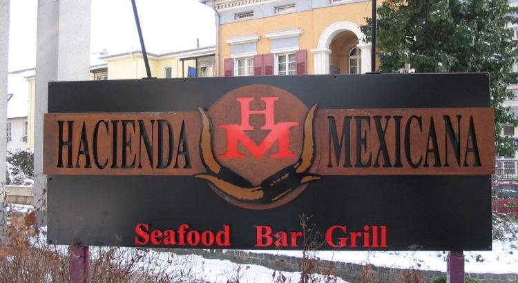 HD-Werbung Reinheim Darmstadt Reliefbuchstaben Werbeschild Hacienda Mexicana